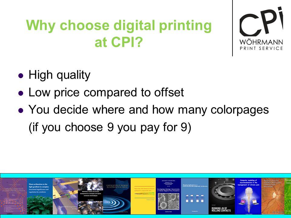 Why choose digital printing at CPI.