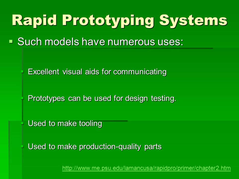 Rapid Prototyping Systems All RP techniques employ the same basic five- step process.
