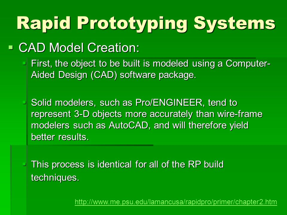 Fused Deposition Modeling (FDM) is a solid-based rapid prototyping method that extrudes material, layer-by-layer, to build a model.