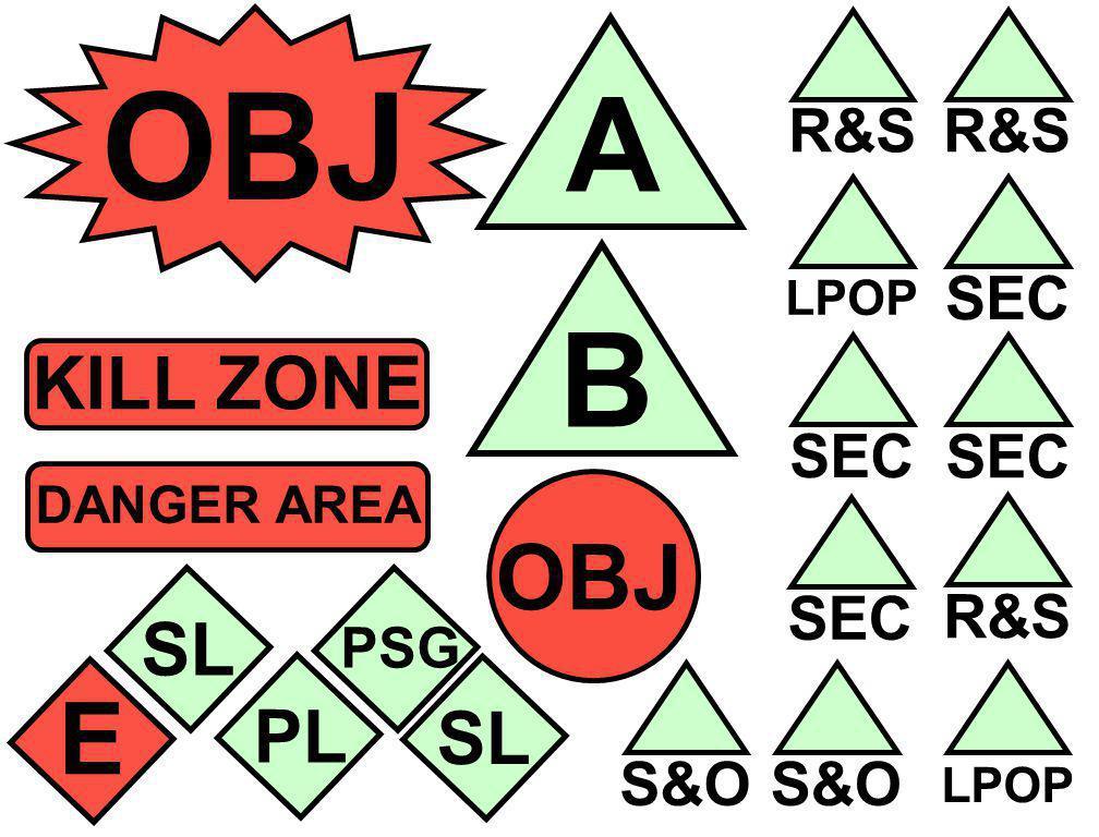 OBJ SEC R&S SEC LPOP KILL ZONE B DANGER AREA SL PSG PL E R&S SEC LPOP OBJ S&O A SL
