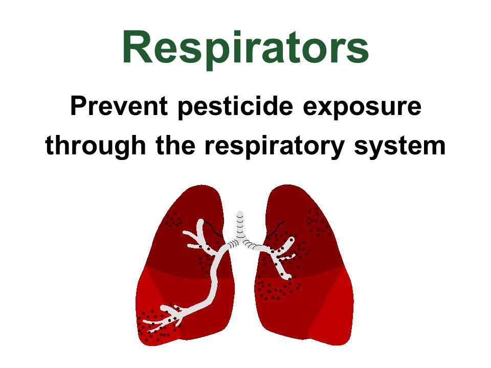 Respirators Prevent pesticide exposure through the respiratory system