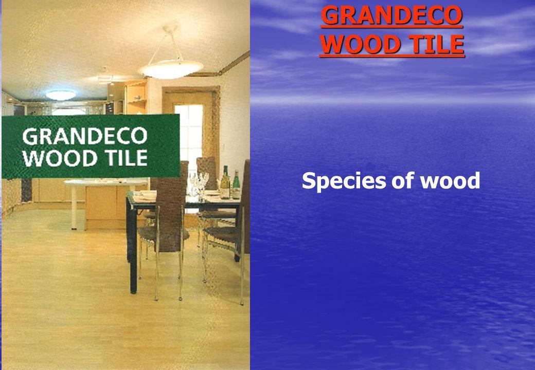 GRANDECO WOOD TILE Species of wood
