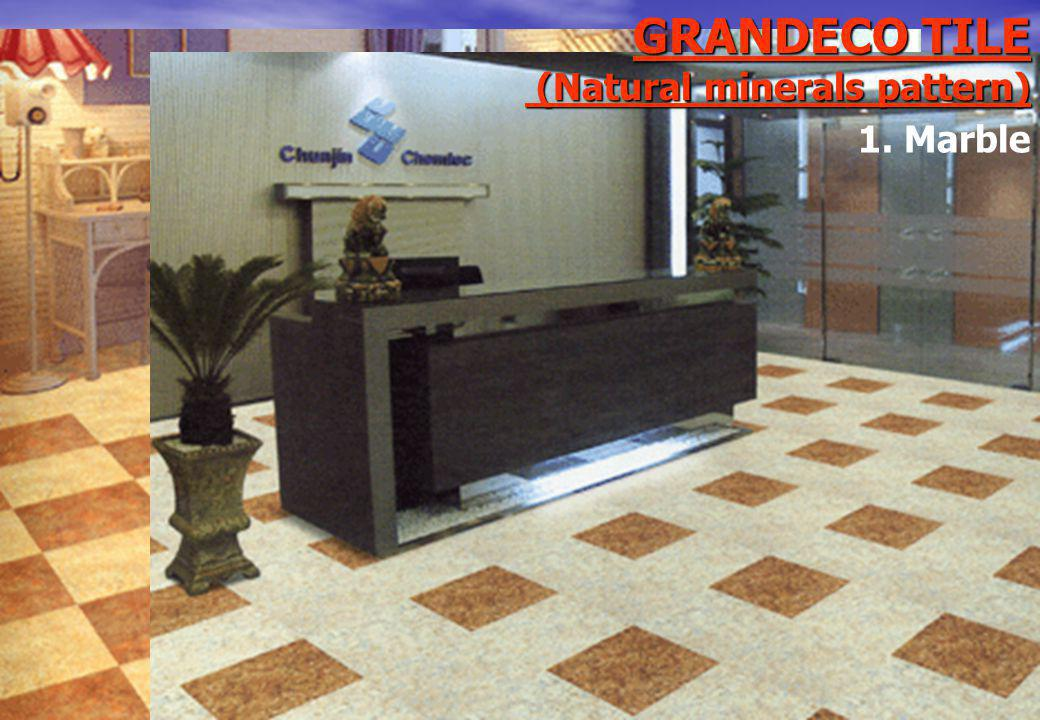 GRANDECO TILE (Natural minerals pattern) 1. Marble