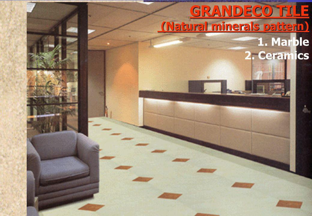 GRANDECO TILE (Natural minerals pattern) 2. Ceramics 1. Marble