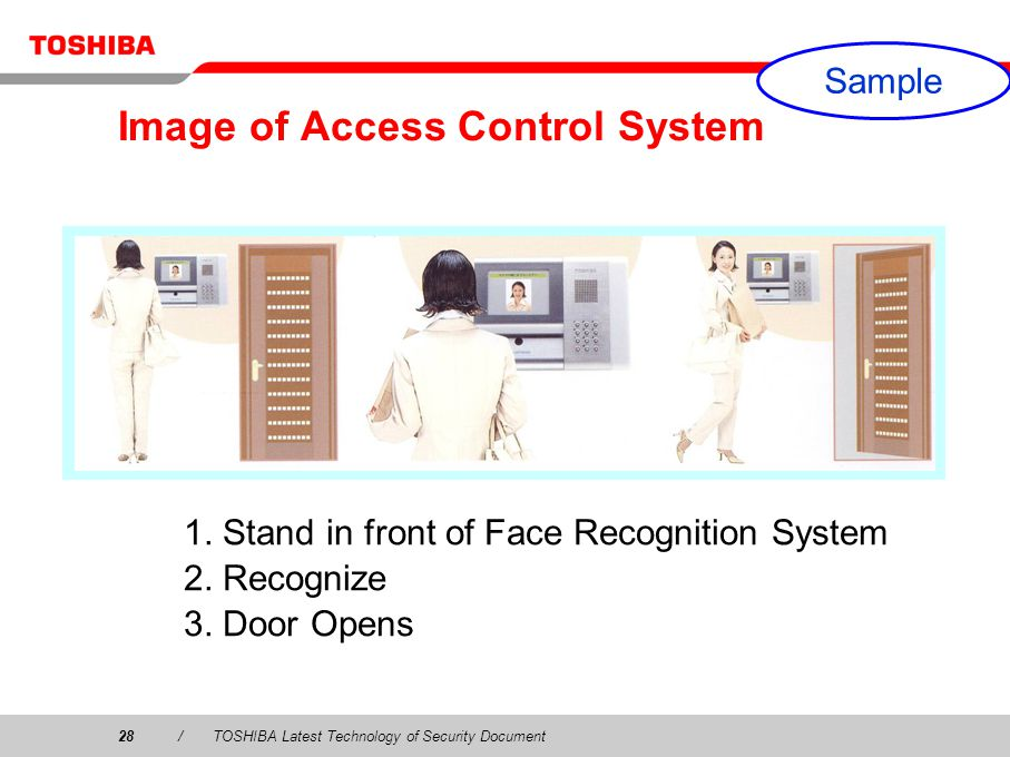 28/TOSHIBA Latest Technology of Security Document Image of Access Control System 1.