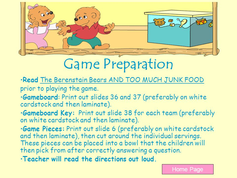 Time to play Little Healthy Helpers Click on the buggy for your question.