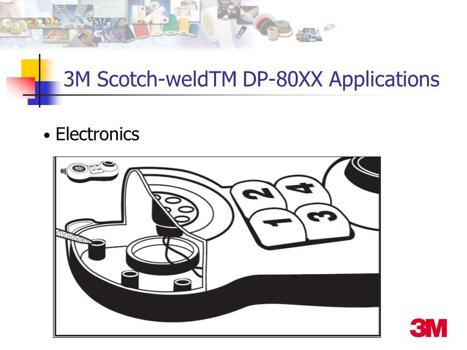 Electronics 3M Scotch-weldTM DP-80XX Applications