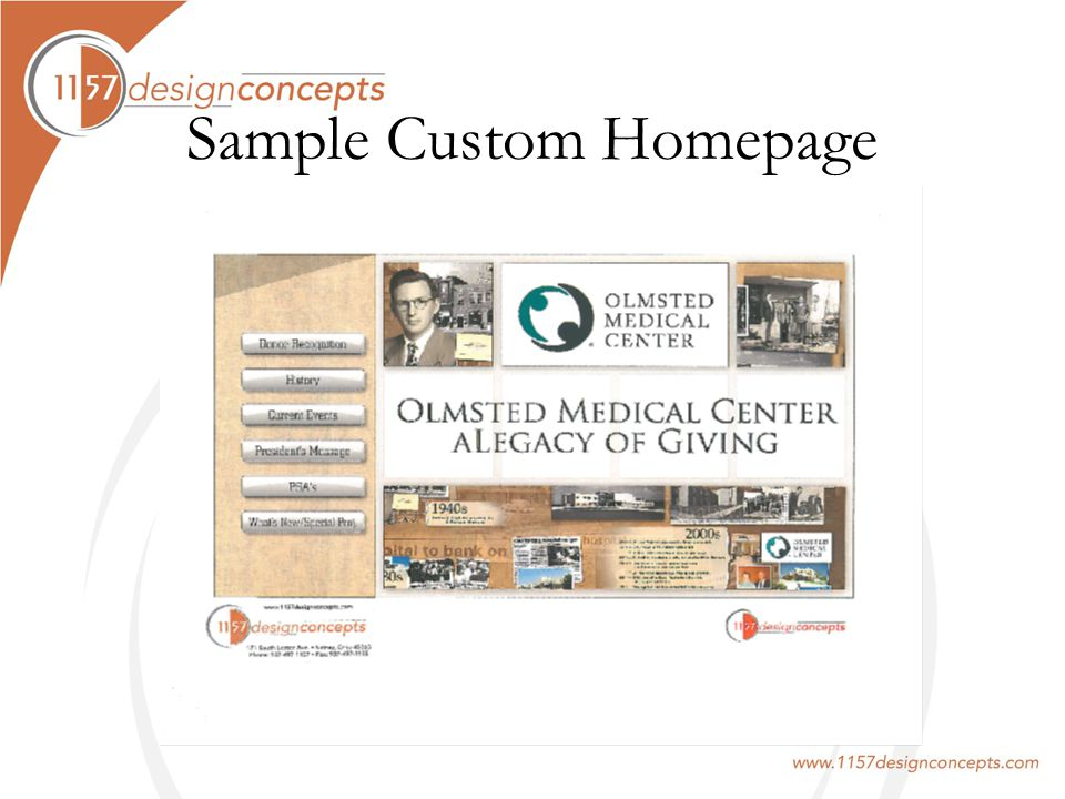 Sample Custom Homepage