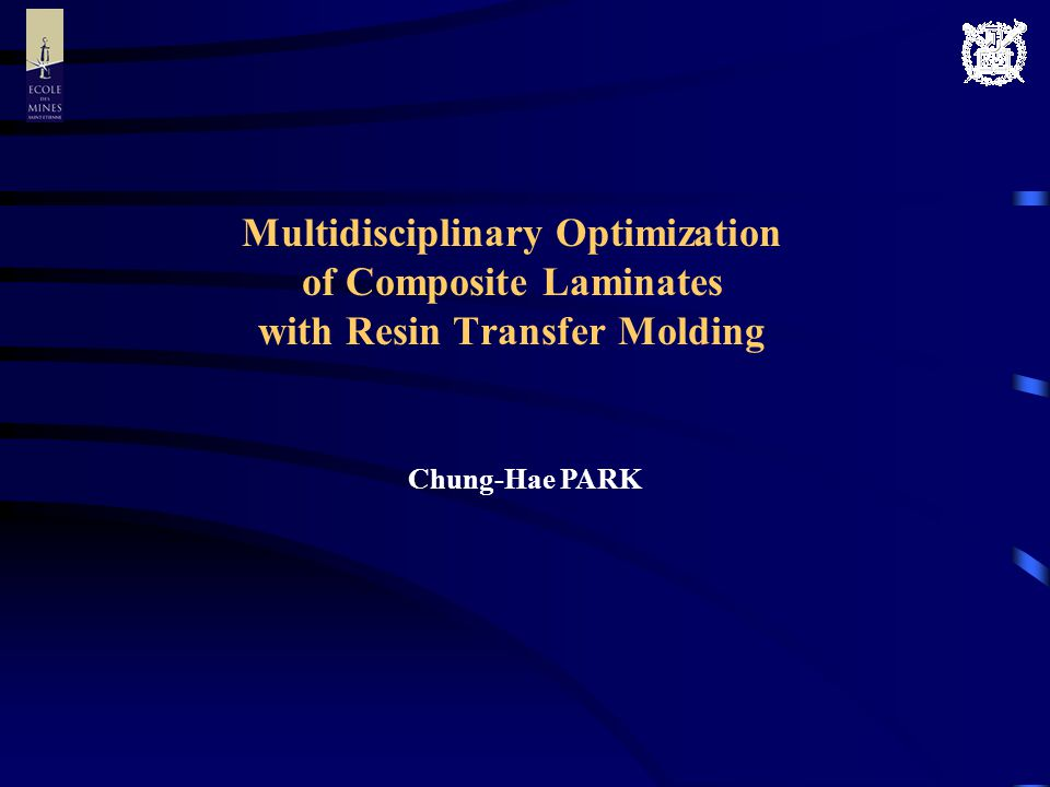 Multidisciplinary Optimization of Composite Laminates with Resin Transfer Molding Chung-Hae PARK