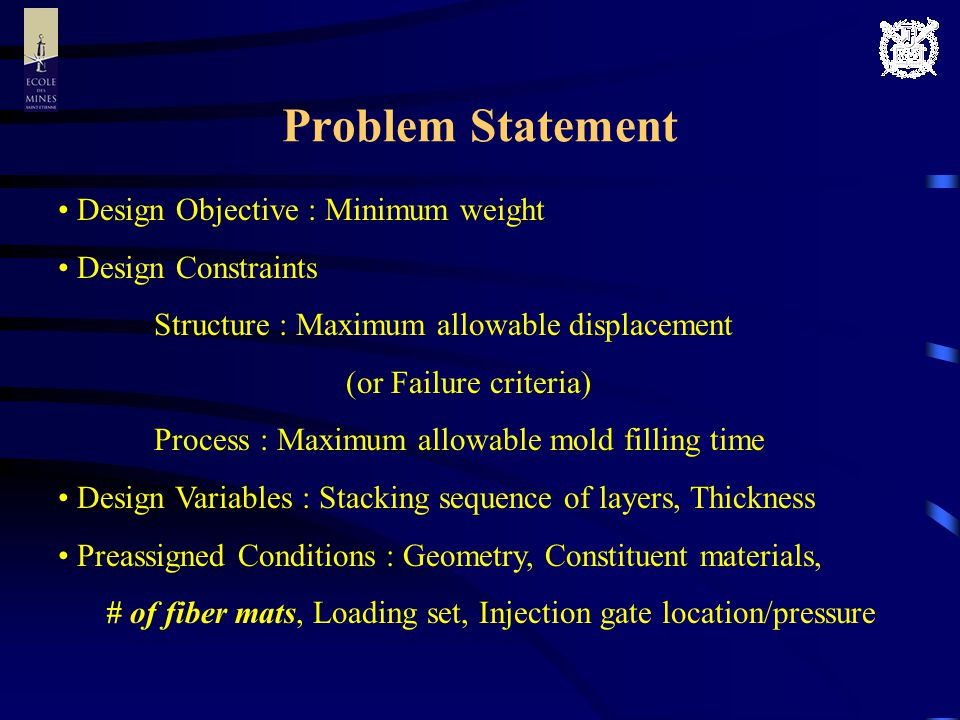 Computational Efficiency Results with stiffness constraint Angle set # of layers Size of design space for layer angle configuration (2^Length of binary string) Size of design space Generation to convergence Objective function evaluation % computing ratio [%] 27 2 7 2 7 10 2 2 30 (1+2) 7.0 28 2 8 2 8 10 4 4 30 (1+2) 7.0 472 2 7 = 2 14 2 14 10 21 21 30 (1+2) 0.6 482 2 8 = 2 16 2 16 10 37 37 30 (1+2) 0.3 Results with strength constraint Angle set # of layers Size of design space for layer angle configuration (2^Length of binary string) Size of design space Generation to convergence Objective function evaluation % computing ratio [%] 27 2 7 2 7 10 2 2 30 (1+2) 7.0 28 2 8 2 8 10 6 6 30 (1+2) 10.5 472 2 7 = 2 14 2 14 10 20 20 30 (1+2) 0.5 482 2 8 = 2 16 2 16 10 29 29 30 (1+2) 0.2