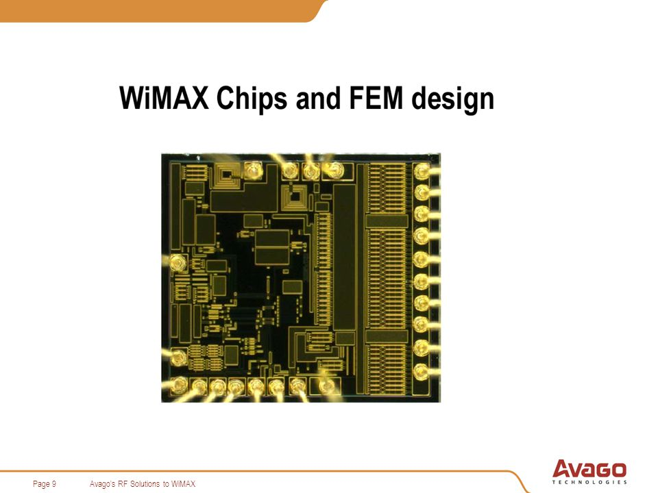 Avago s RF Solutions to WiMAXPage 9