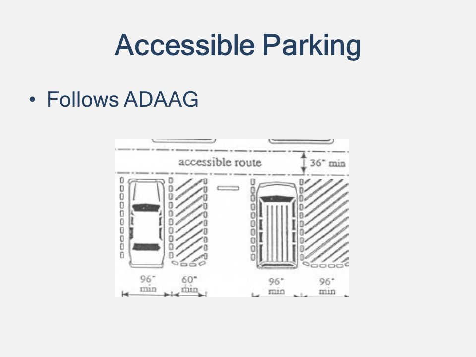 Accessible Parking Follows ADAAG