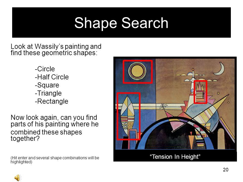 Kandinskys Creativity Kandinsky liked to paint things from his imagination.