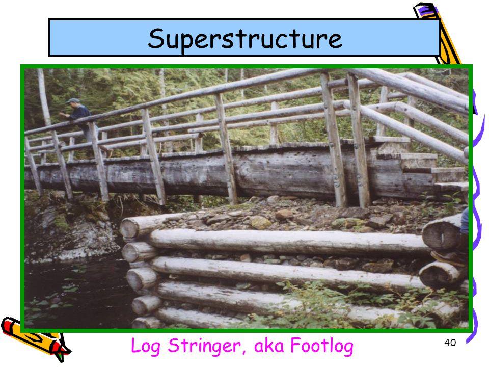 40 Superstructure Log Stringer, aka Footlog