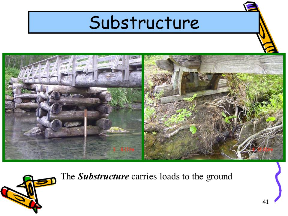 41 Substructure The Substructure carries loads to the ground