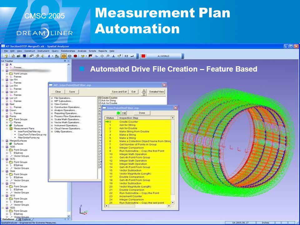 CMSC 2005 Measurement Plan Automation Automated Drive File Creation – Feature Based