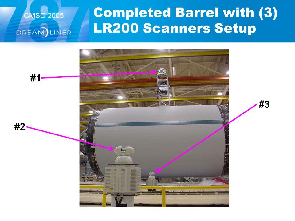 CMSC 2005 Completed Barrel with (3) LR200 Scanners Setup #1 #3 #2