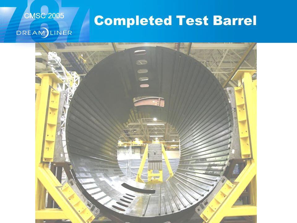 CMSC 2005 Completed Test Barrel