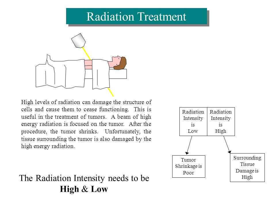 High levels of radiation can damage the structure of cells and cause them to cease functioning.