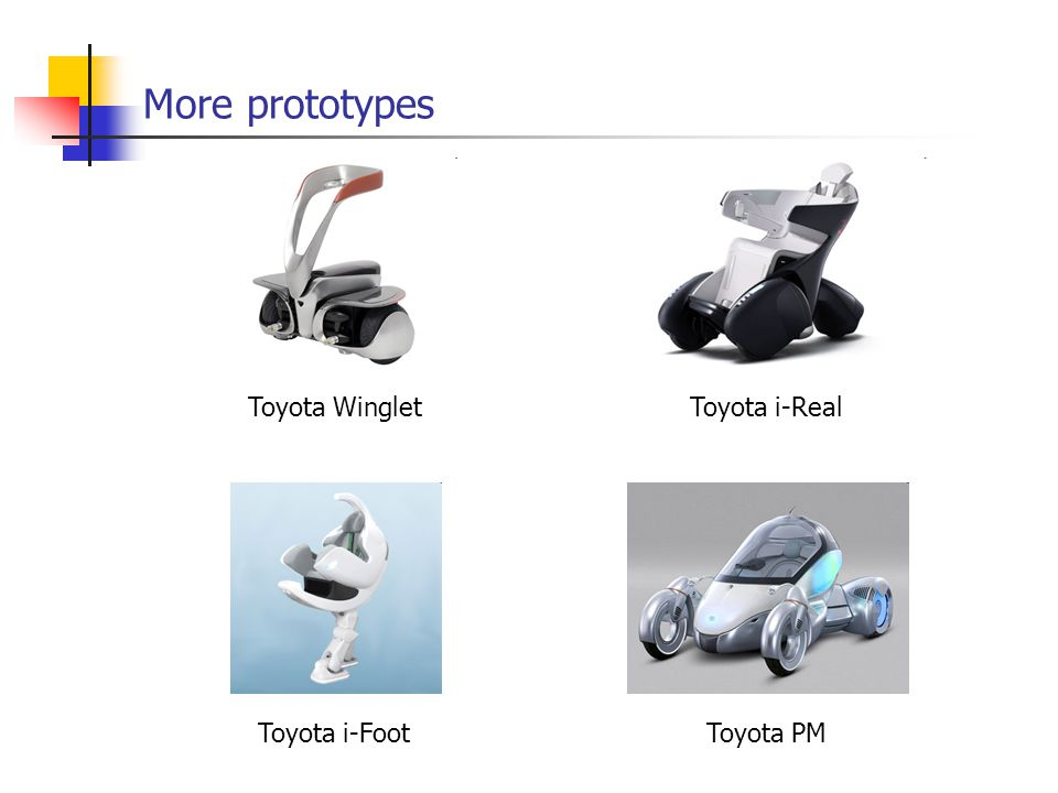 More prototypes Toyota WingletToyota i-Real Toyota i-FootToyota PM