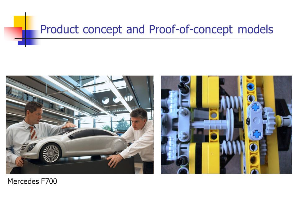 Product concept and Proof-of-concept models Mercedes F700
