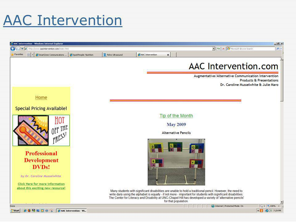 AAC Intervention