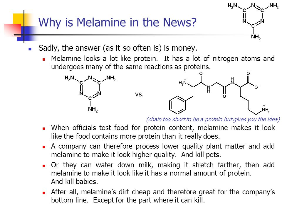 Sadly, the answer (as it so often is) is money. Melamine looks a lot like protein.