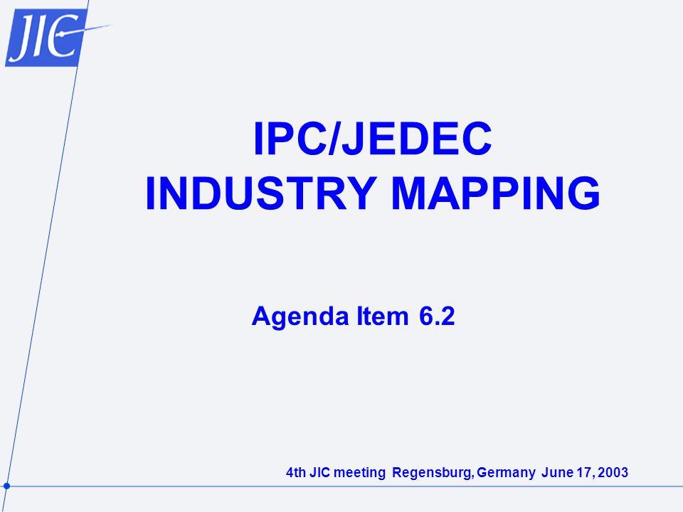IPC/JEDEC INDUSTRY MAPPING Agenda Item 6.2 4th JIC meeting Regensburg, Germany June 17, 2003