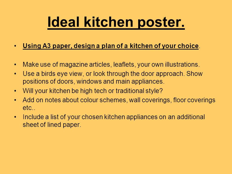 Appliances to include in your kitchen.