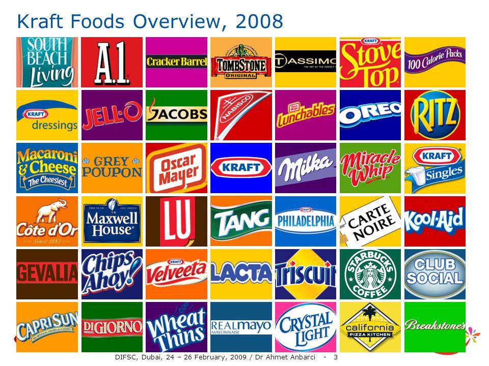 DIFSC, Dubai, 24 – 26 February, 2009 / Dr Ahmet Anbarci - 3 Kraft Foods Overview, 2008