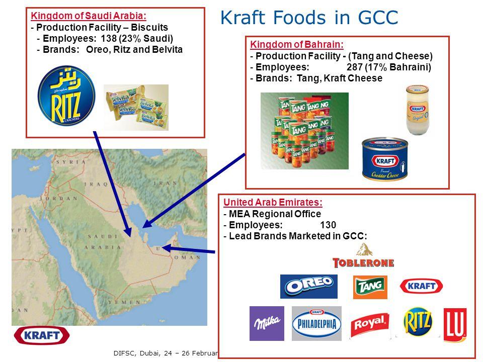 DIFSC, Dubai, 24 – 26 February, 2009 / Dr Ahmet Anbarci - 7 Kingdom of Saudi Arabia: - Production Facility – Biscuits -Employees: 138 (23% Saudi) -Bra