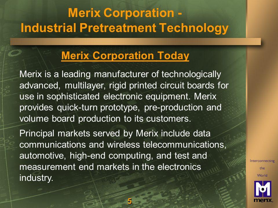 36 Questions? Merix Corporation - Industrial Pretreatment Technology