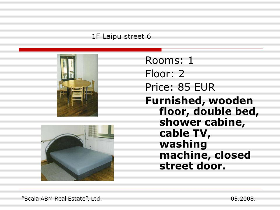 Reservation Please read before booking apartment Scala ABM Real Estate, Ltd.