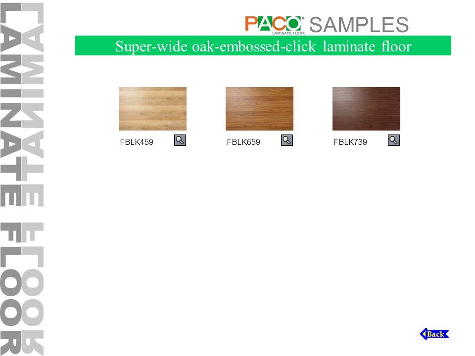 SAMPLES FBLK459FBLK659FBLK739 Super-wide oak-embossed-click laminate floor