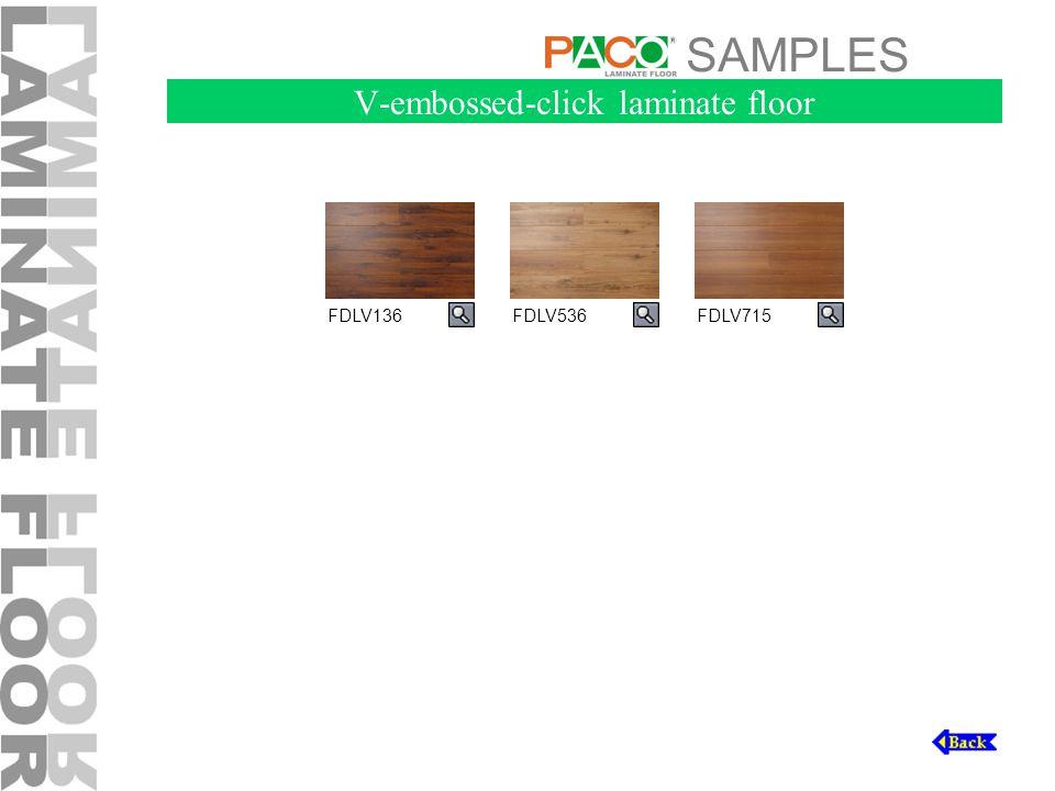 SAMPLES V-embossed-click laminate floor FDLV536FDLV715FDLV136