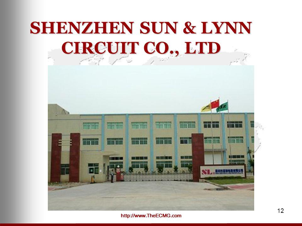 http://www.TheECMG.com 12 SHENZHEN SUN & LYNN CIRCUIT CO., LTD