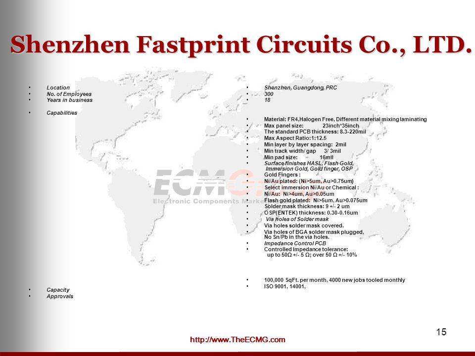 http://www.TheECMG.com 15 Shenzhen Fastprint Circuits Co., LTD.