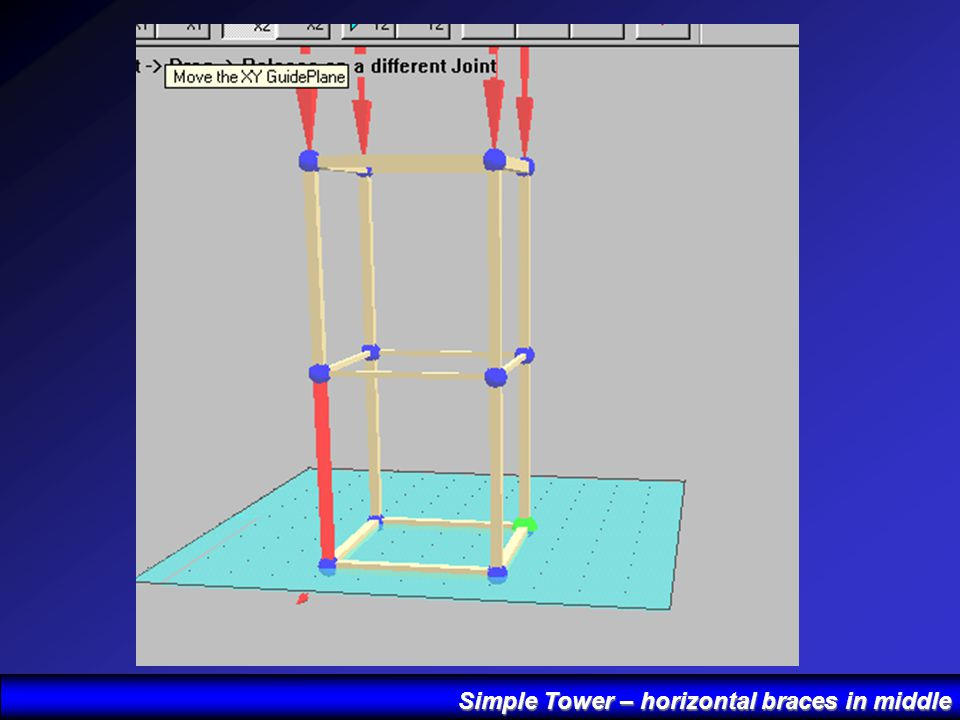 Simple Tower – horizontal braces in middle