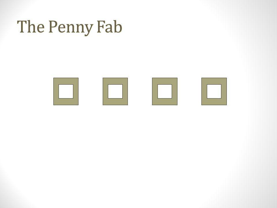 The Penny Fab Characteristics: Four identical tools in series.