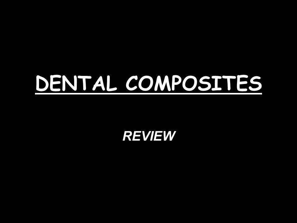 DENTAL COMPOSITES REVIEW
