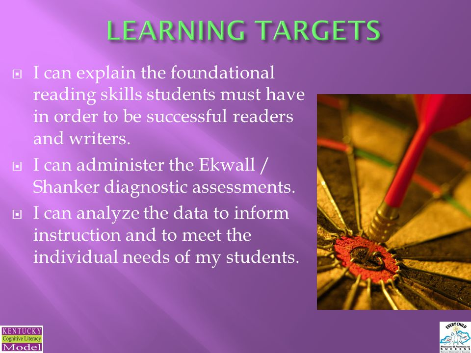 I can explain the foundational reading skills students must have in order to be successful readers and writers.