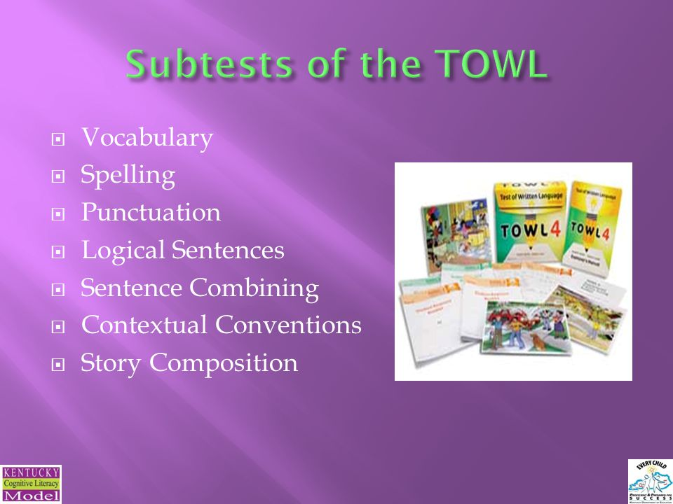 Vocabulary Spelling Punctuation Logical Sentences Sentence Combining Contextual Conventions Story Composition 35
