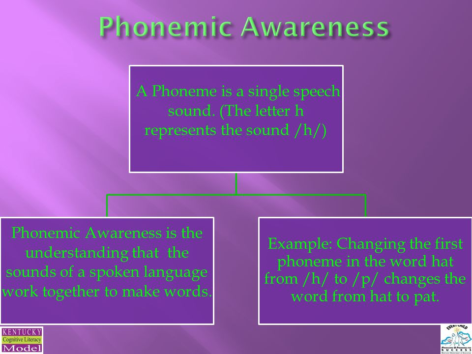 8 Phonics The relationship between the letters of written language and the individual sounds of spoken language Graphemes The letters and spellings that represent these sounds in written language Phonemes Individual sounds of spoken language