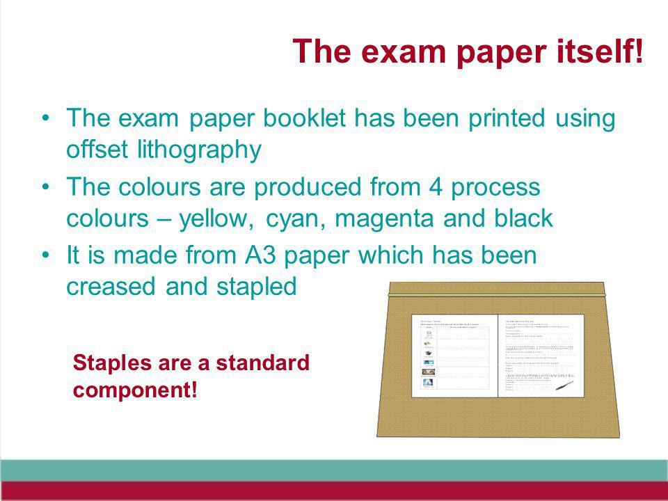 The exam paper itself.