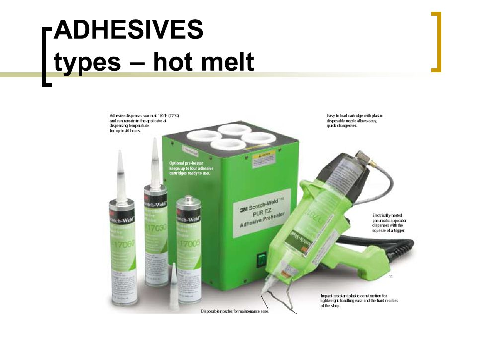ADHESIVES types – hot melt