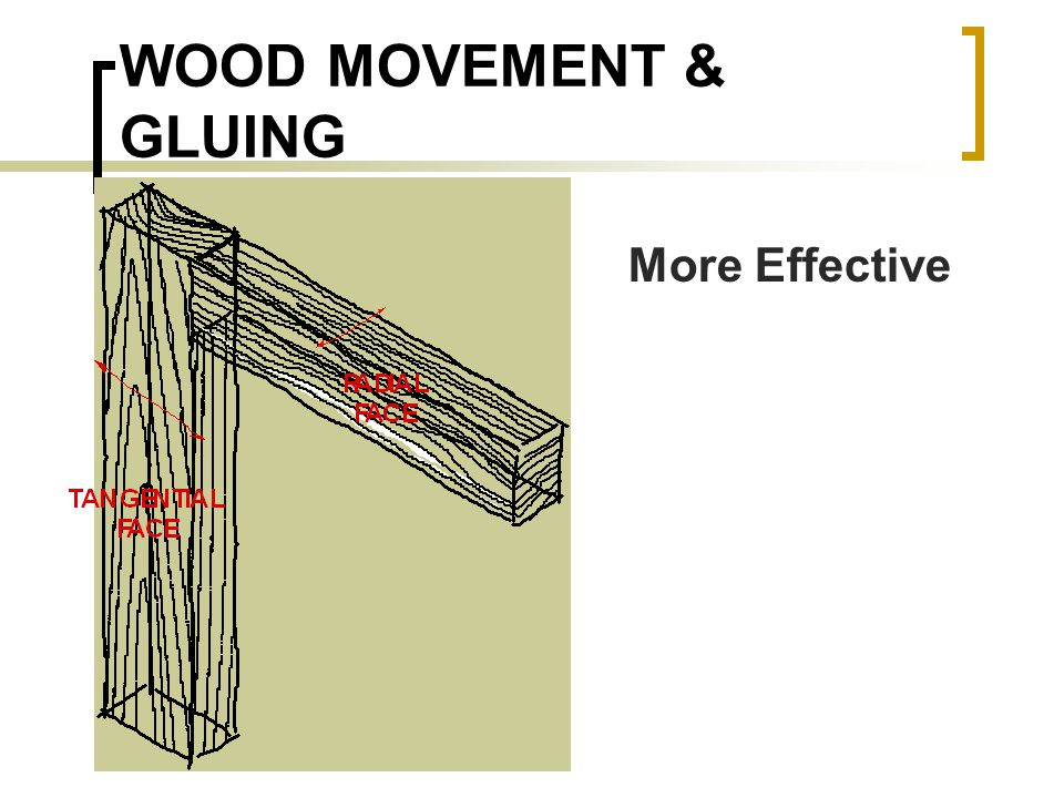 WOOD MOVEMENT & GLUING More Effective