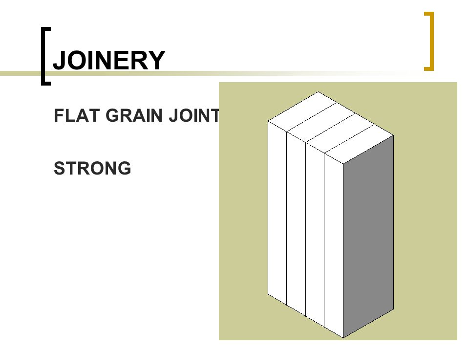 JOINERY FLAT GRAIN JOINTS STRONG