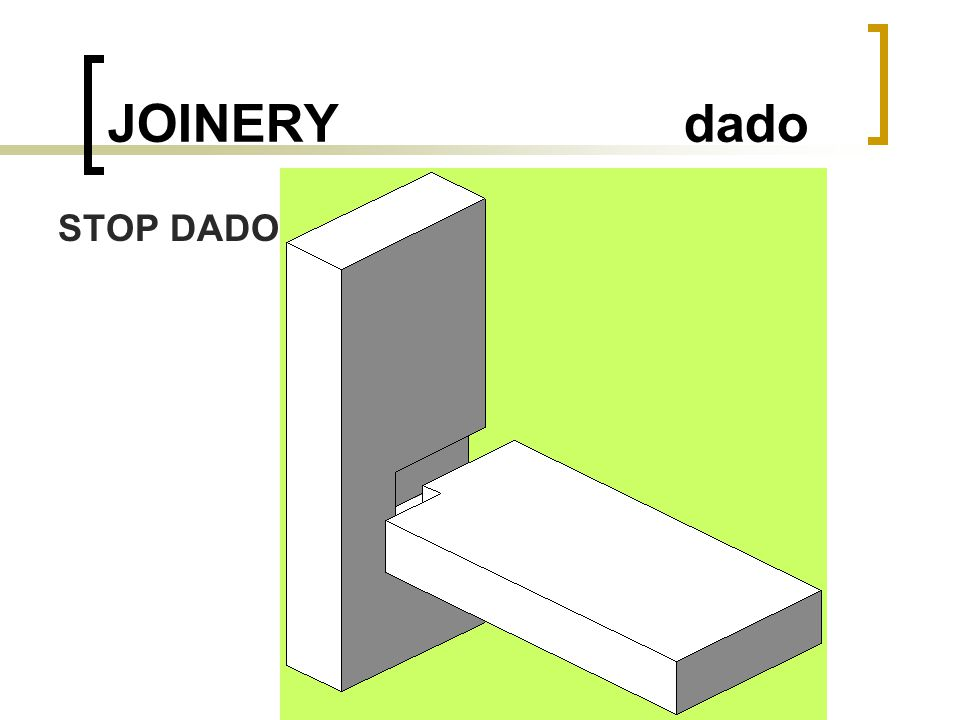 JOINERY dado STOP DADO