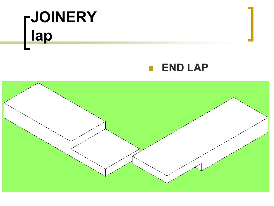JOINERY lap END LAP