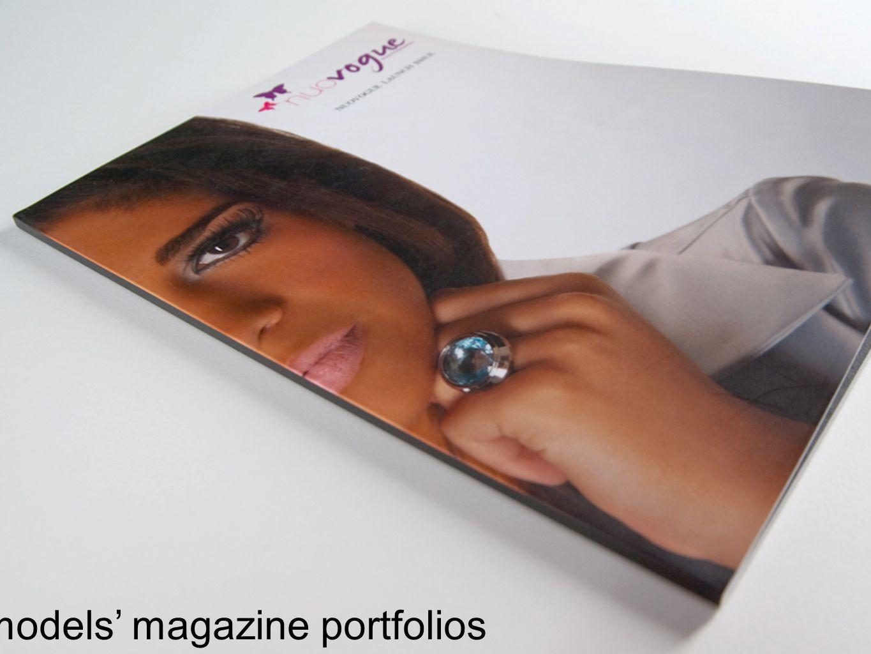 models magazine portfolios